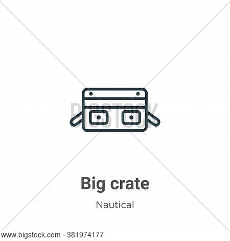 Big crate icon isolated on white background from nautical collection. Big crate icon trendy and mode