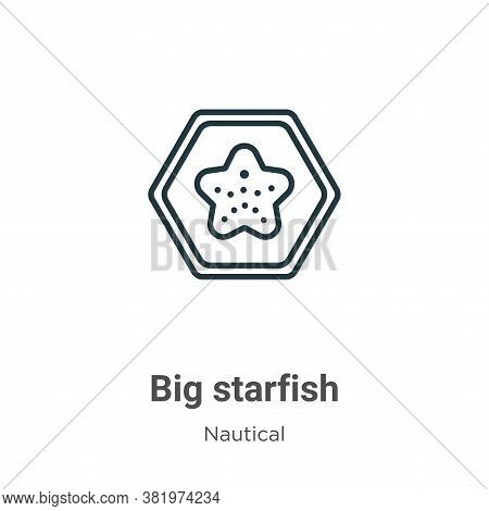 Big starfish icon isolated on white background from nautical collection. Big starfish icon trendy an