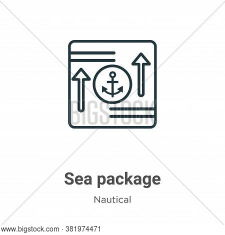 Sea package icon isolated on white background from nautical collection. Sea package icon trendy and