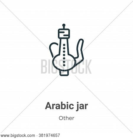 Arabic jar icon isolated on white background from other collection. Arabic jar icon trendy and moder