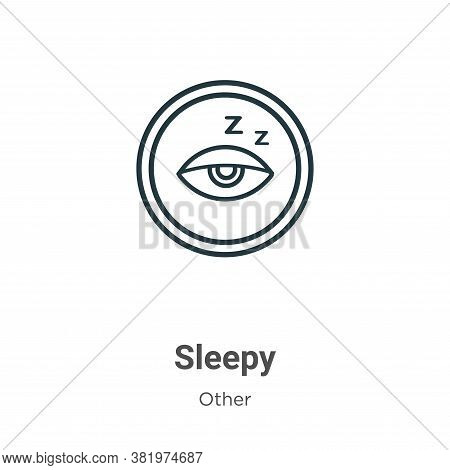 Sleepy icon isolated on white background from other collection. Sleepy icon trendy and modern Sleepy