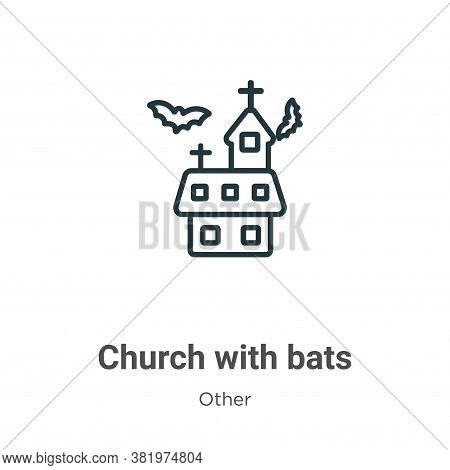 Church with bats icon isolated on white background from other collection. Church with bats icon tren