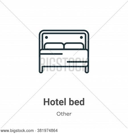 Hotel bed icon isolated on white background from other collection. Hotel bed icon trendy and modern