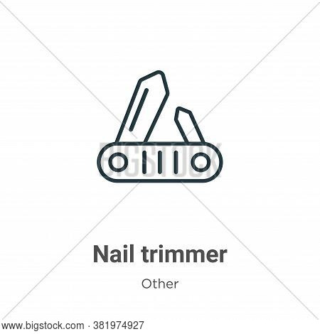 Nail trimmer icon isolated on white background from other collection. Nail trimmer icon trendy and m