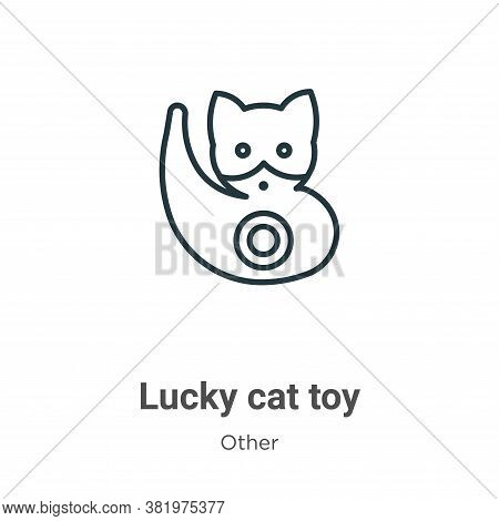 Lucky cat toy icon isolated on white background from other collection. Lucky cat toy icon trendy and