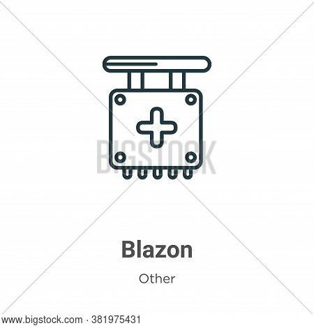 Blazon icon isolated on white background from other collection. Blazon icon trendy and modern Blazon