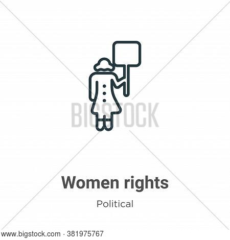 Women rights icon isolated on white background from political collection. Women rights icon trendy a