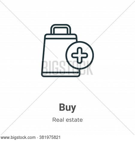 Buy icon isolated on white background from real estate collection. Buy icon trendy and modern Buy sy