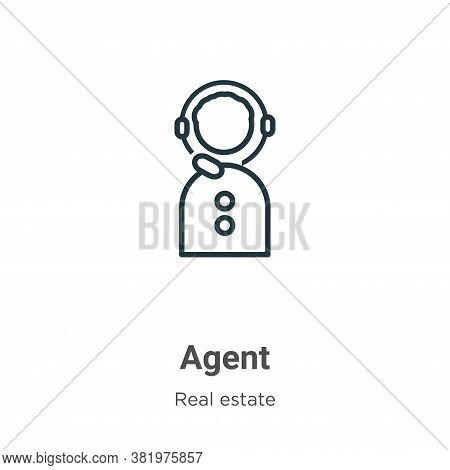 Agent icon isolated on white background from real estate collection. Agent icon trendy and modern Ag