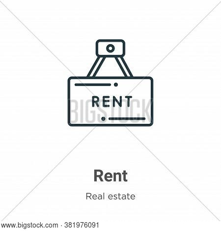 Rent icon isolated on white background from real estate collection. Rent icon trendy and modern Rent