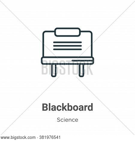 Blackboard icon isolated on white background from science collection. Blackboard icon trendy and mod
