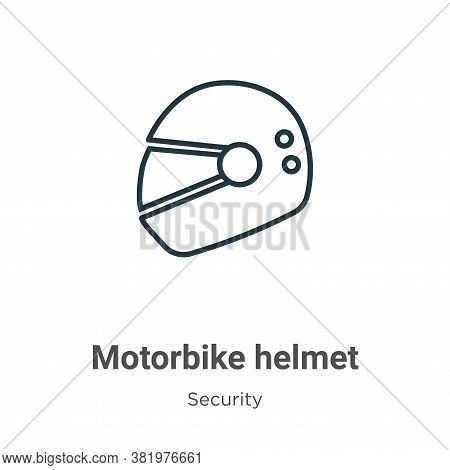 Motorbike helmet icon isolated on white background from security collection. Motorbike helmet icon t