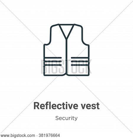 Reflective vest icon isolated on white background from security collection. Reflective vest icon tre