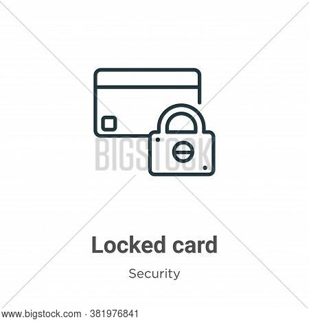 Locked card icon isolated on white background from security collection. Locked card icon trendy and