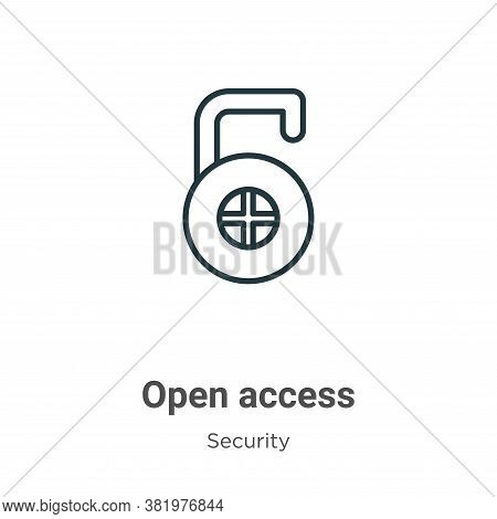 Open access icon isolated on white background from security collection. Open access icon trendy and