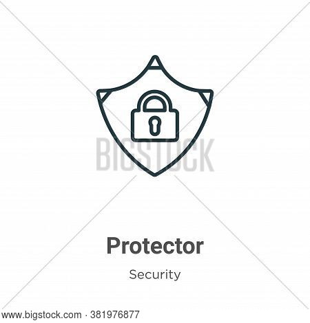 Protector icon isolated on white background from security collection. Protector icon trendy and mode