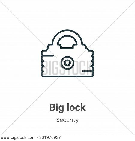 Big lock icon isolated on white background from security collection. Big lock icon trendy and modern
