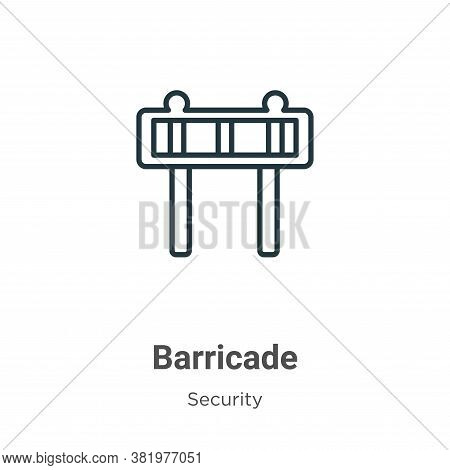 Barricade icon isolated on white background from security collection. Barricade icon trendy and mode