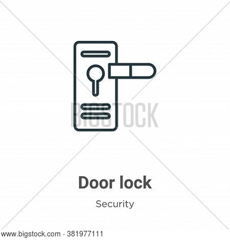 Door lock icon isolated on white background from security collection. Door lock icon trendy and mode