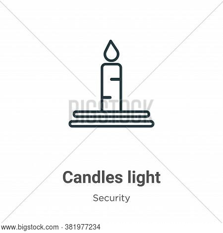 Candles light icon isolated on white background from security collection. Candles light icon trendy
