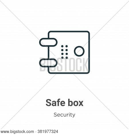 Safe box icon isolated on white background from security collection. Safe box icon trendy and modern