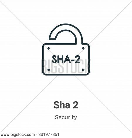 Sha 2 icon isolated on white background from security collection. Sha 2 icon trendy and modern Sha 2