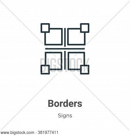 Borders icon isolated on white background from signs collection. Borders icon trendy and modern Bord