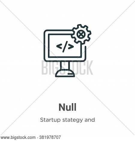 Null icon isolated on white background from  collection. Null icon trendy and modern Null symbol for