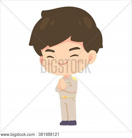 Cute Man Cartoon Government Employee