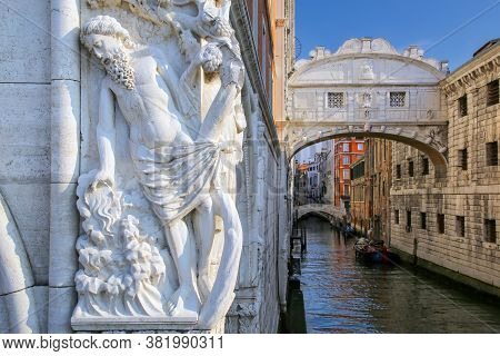 Ponte Dei Sospiri (bridge Of Sighs) In Venice, Italy. Venice Is Situated Across A Group Of 117 Small