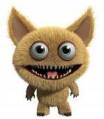3 d cartoon cute furry gremlin monster poster