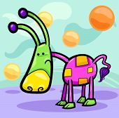 Cartoon Illustration of Funny Colorful Fairytale Character Creature in Fantasy World poster