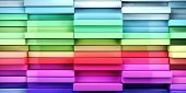3d image of coloful abstract tiles rectangles background poster