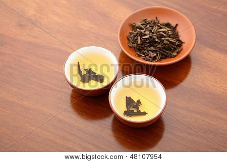 Chinese tea and dried leave