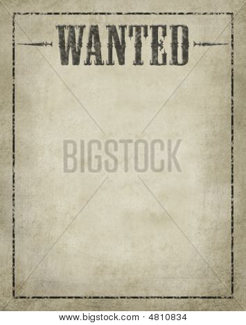 Wanted Poster Aged