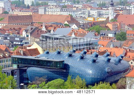 Kunsthaus In The City Of Graz, Austria