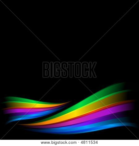 Abstract Rainbow Composition