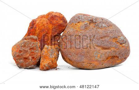 Iron ore - Magnetite and Hematite from Island of Elba, Italy.