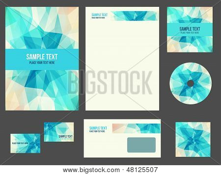 Corporate identity for company or event. Vector template for business stationery set. poster