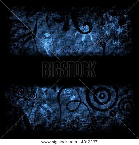 Blue Grunge Retro Background