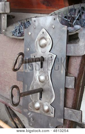 An Antique Lock And Keys