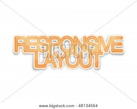 Responsive Layout for website, web design development