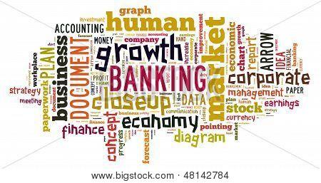 Banking Wort-Wolke
