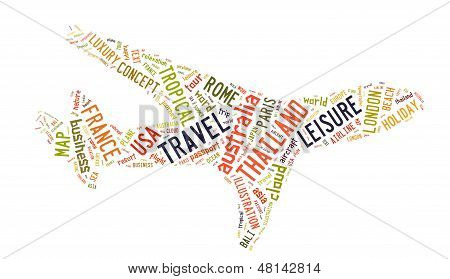 Travel info-text graphics