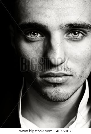Sensual Man With Beautiful Face And Eyes