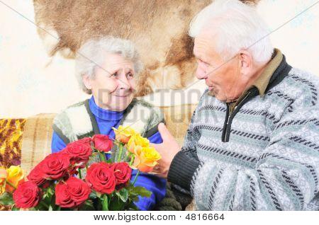Elderly Man With Elderly Woman