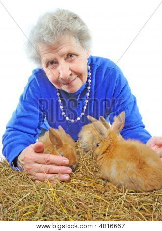 Old Woman With Bunny