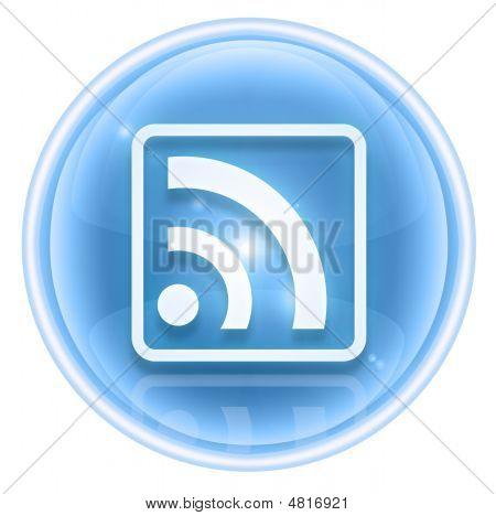 Wi-fi Icon Ice, Isolated On White Background