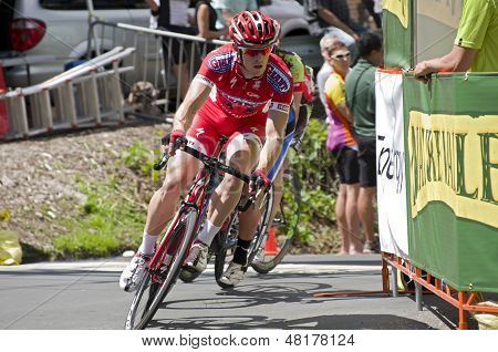 Pro Cyclist Leads Pack At Stillwater