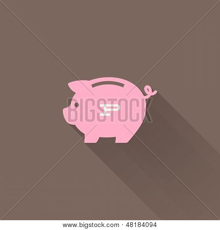 Piggy Bank. Vector Illustration